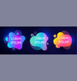 abstract modern liquid bannes set colorful shapes vector image