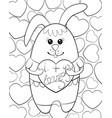 adult coloring bookpage a cute rabbit with a vector image
