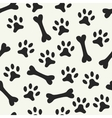 Animal seamless pattern of paw footprint vector image