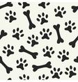 Animal seamless pattern of paw footprint vector image vector image