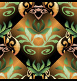 baroque 3d embroidery floral seamless pattern vector image vector image