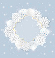 beautiful frame for merry christmas and happy new vector image vector image