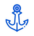 boat anchor icon outline vector image