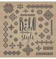 Borders and decoration ethnic signs with Boho vector image vector image