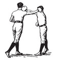 boxing vintage vector image vector image