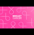 breast cancer awareness pink ribbon background vector image vector image