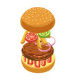 burger or hamburger ingredients constructor vector image vector image