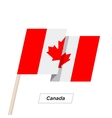 Canada Ribbon Waving Flag Isolated on White vector image vector image