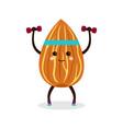 cartoon almonds fitness vector image