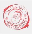christmas round stamp with snowflakes and vector image vector image