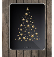 Christmas tree on tablet vector image vector image