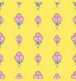 colorful seamless pattern of ice cream in pop art vector image vector image