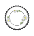 Daisy Flower Round Frame vector image vector image