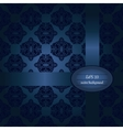 Dark blue classic seamless pattern vector image vector image