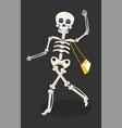 day dead or dia de los muertos skeleton with vector image vector image