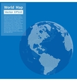 Dotted World Map Background Earth Globe vector image vector image