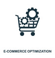 e-commerce optimization icon line style icon vector image vector image