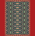 ethnic carpet tribal geometric pattern vector image vector image