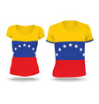 Flag shirt design of Venezuela vector image vector image