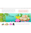 flat spa salon landing page template vector image vector image