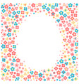 frame with tiny flowers in a cartoon style vector image vector image