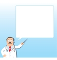 Funny doctor with pointer Design template vector image vector image