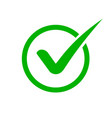 green check mark icon checkmark in circle for vector image vector image