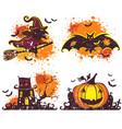halloween icons set design elements vector image vector image