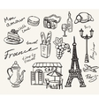 hand drawn paris vector image vector image