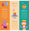 Happy birthday banners vector image vector image