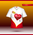 happy valentine day t shirt realistic vector image