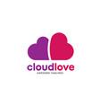 heart logo concept cloud heart logo vector image vector image