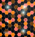hexagon background vector image vector image