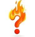 Hot question mark icon vector | Price: 1 Credit (USD $1)