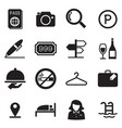 hotel silhouette icons vector image vector image