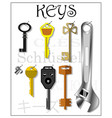 housekeeper for storing various keys vector image vector image