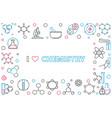 i love chemistry outline horizontal frame vector image vector image