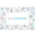 i love chemistry outline horizontal frame with vector image vector image