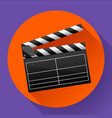 movie clapper board movie maker vector image vector image