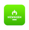 newborn bottle icon green vector image vector image
