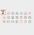 office outlined pixel perfect well-crafted vector image vector image