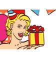 Pop Art girl with thought bubble Party invitation vector image vector image