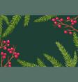 postcard with christmas plants vector image