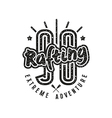 Rafting club emblem in retro style vector image vector image