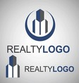 realty logo 5 3 vector image vector image