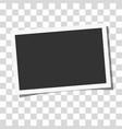 retro realistic photo frame vector image vector image