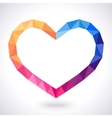 Romantic polygonal heart frame vector image
