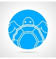 Sea turtle round icon vector image