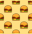 seamless pattern of burgers background for fast vector image vector image
