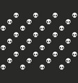 seamless skull pattern vector image vector image